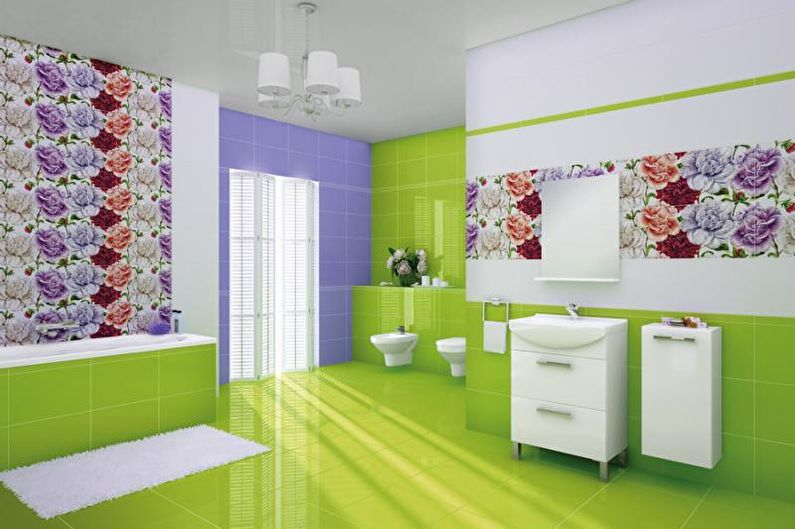 Combinaisons de couleurs à l'intérieur de la salle de bain - Roue chromatique