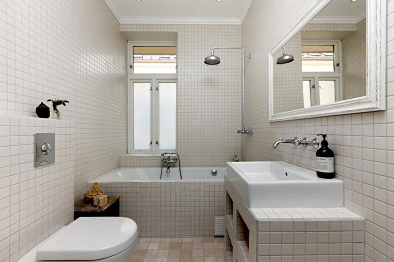 Combinaisons de couleurs à l'intérieur de la salle de bain - Salle de bain blanche