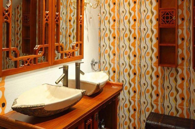 Combinaisons de couleurs à l'intérieur de la salle de bain - Tons chauds