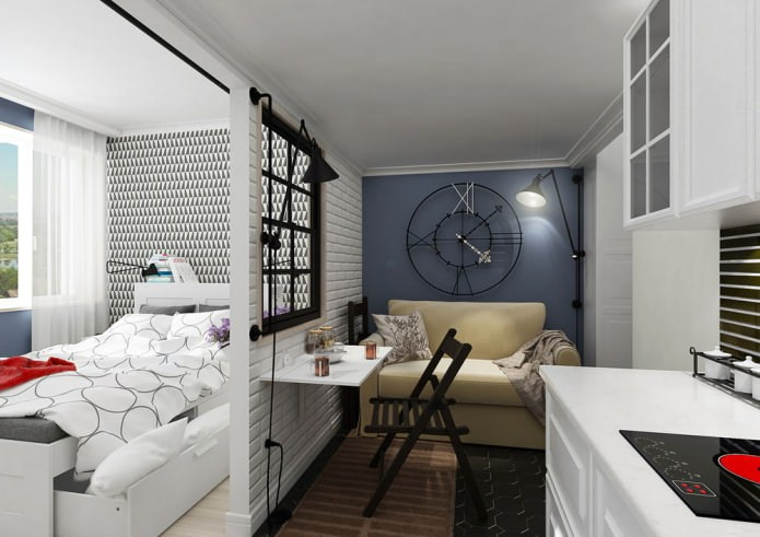 Conception de petits studios 25 m².  m.