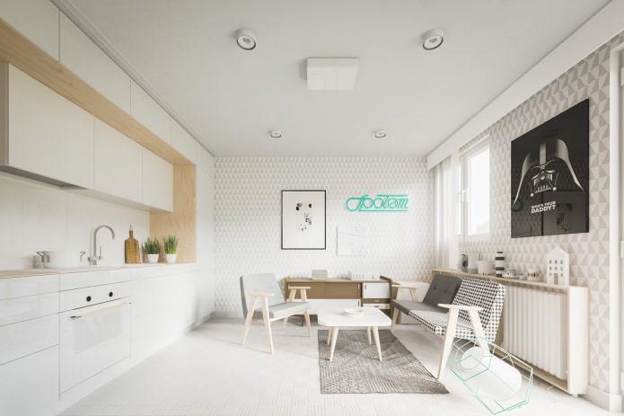Conception d'un petit studio de 20 m².  m.