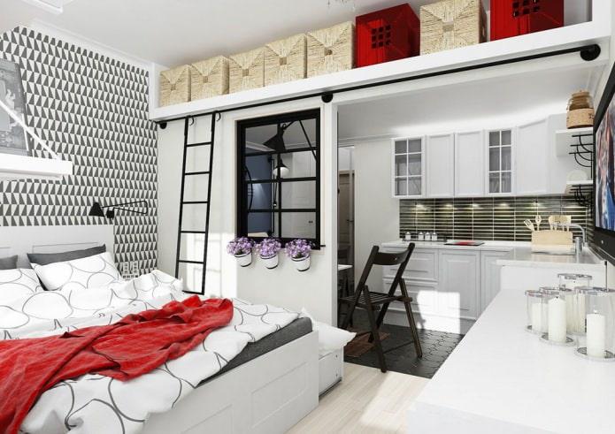 Conception d'un petit studio 25 m².  m.