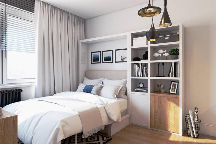 Design moderne d'un petit appartement de 19 m².  m.