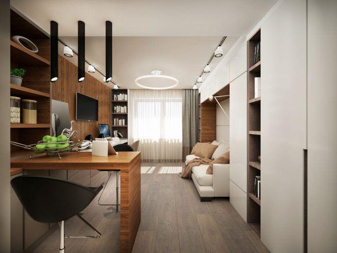 Conception moderne et fonctionnelle d'un petit appartement de 25 m².  m.