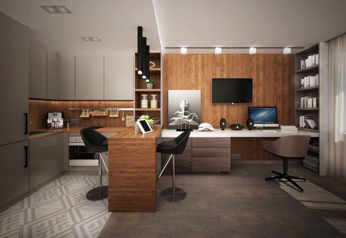 Conception d'un petit appartement de 25 m².  m.