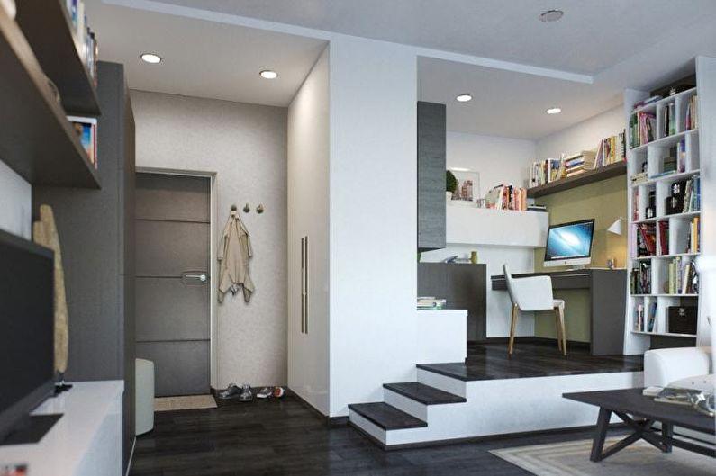 Hall d'entrée - Conception d'un studio de 33 m².