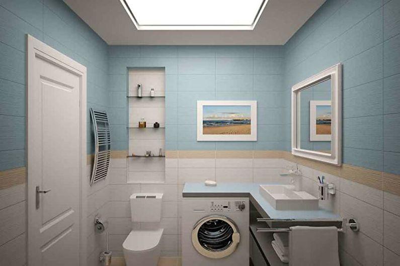 Salle de bain, WC - Conception d'un T1 33 m².