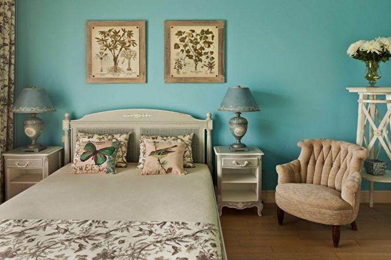 Chambre Provence Turquoise - Décoration d'intérieur
