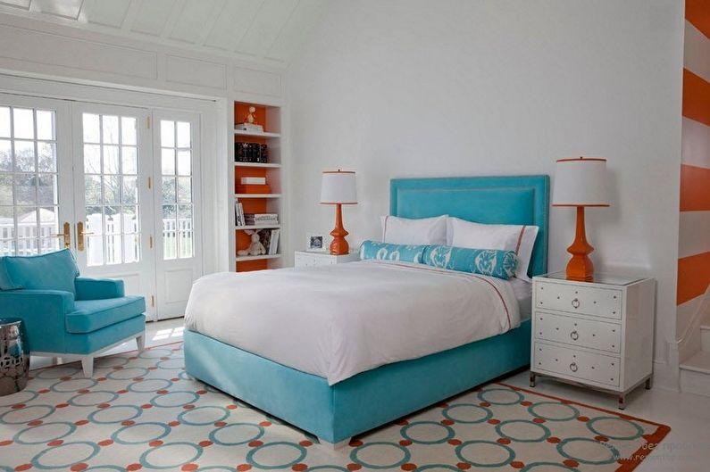 Conception de chambre turquoise - Finition de sol