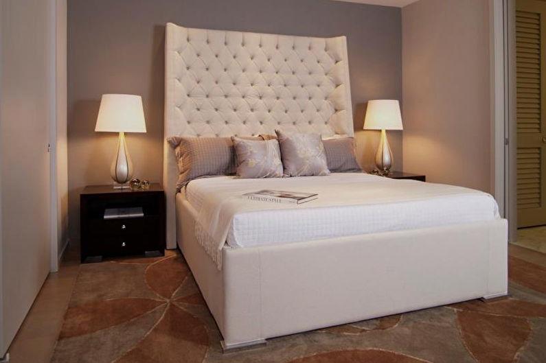 Conception de la chambre 9 m²  dans un style moderne