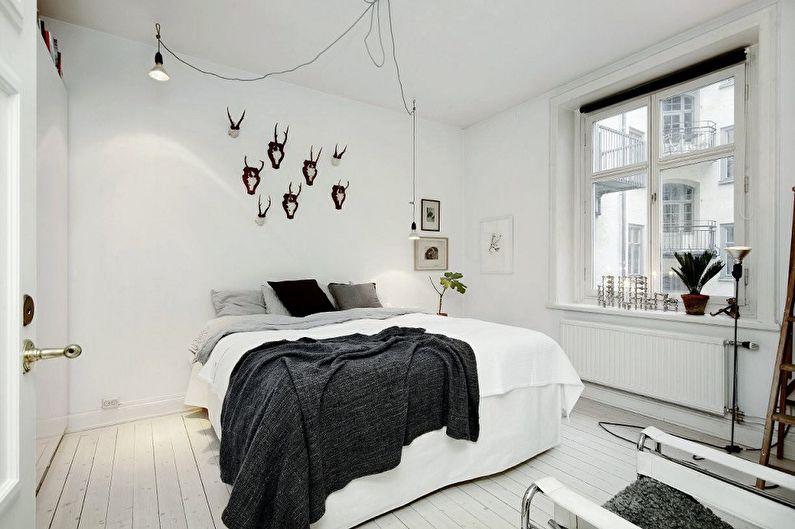 Conception de la chambre 9 m²  dans le style scandinave