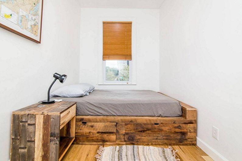 Conception de la chambre 9 m²  en éco-style