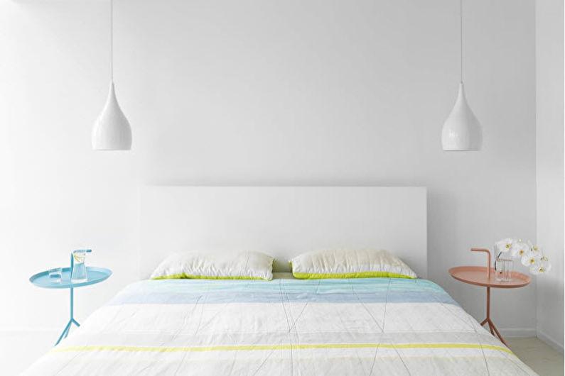 Conception de la chambre 9 m²  - Couleur blanche