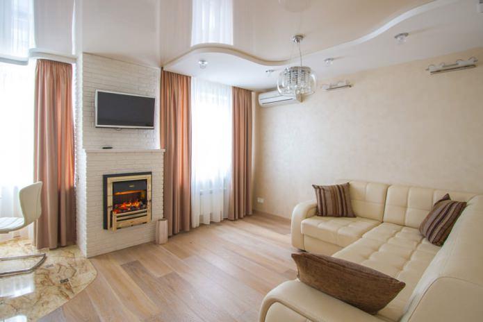 design de salon avec cheminée