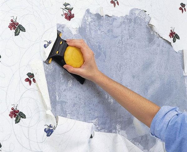 préparation des murs pour le collage