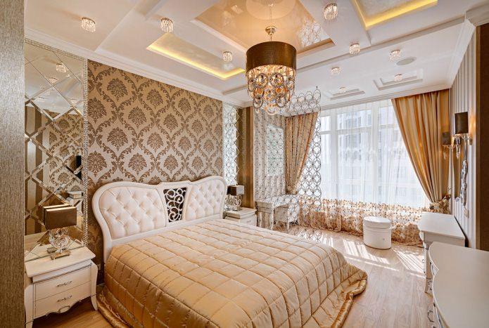 plafond tendu à plusieurs niveaux dans la chambre