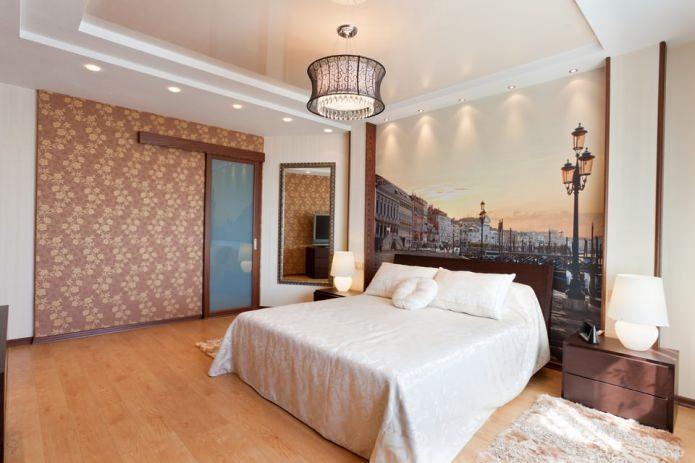 papier peint photo sur le mur de la chambre