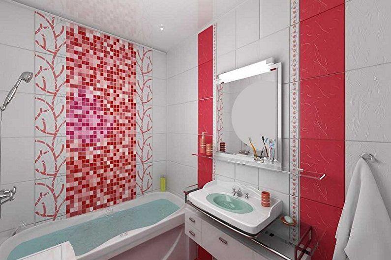 Conception de salle de bain 5 m²  - Solutions couleur