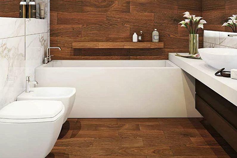 Conception de salle de bain 5 m²  - Finition du sol