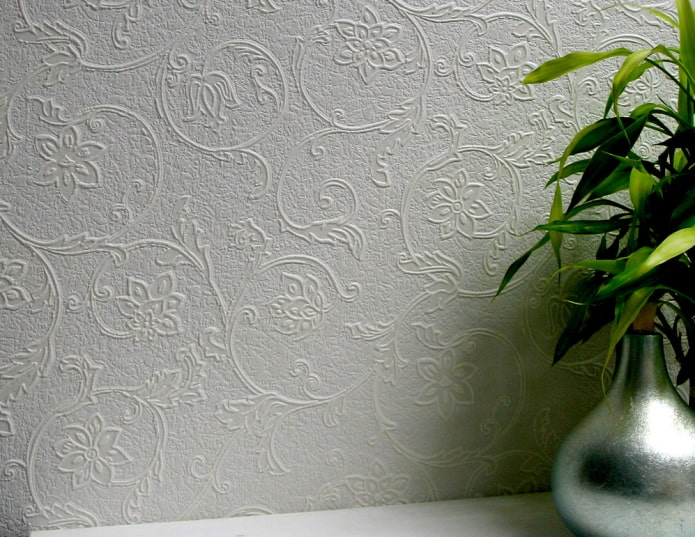 papier peint en verre pour peindre avec des fleurs