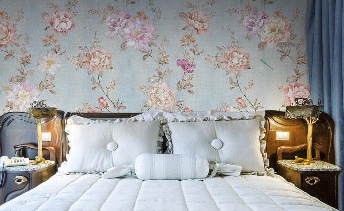 papier peint en tissu avec imprimé floral
