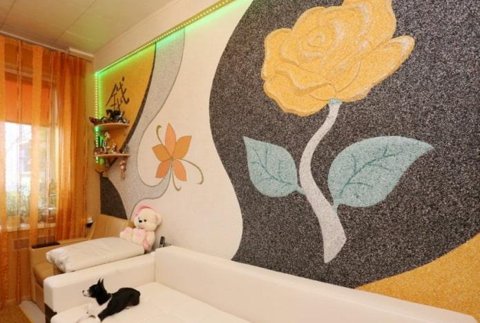 papier peint liquide à motif floral