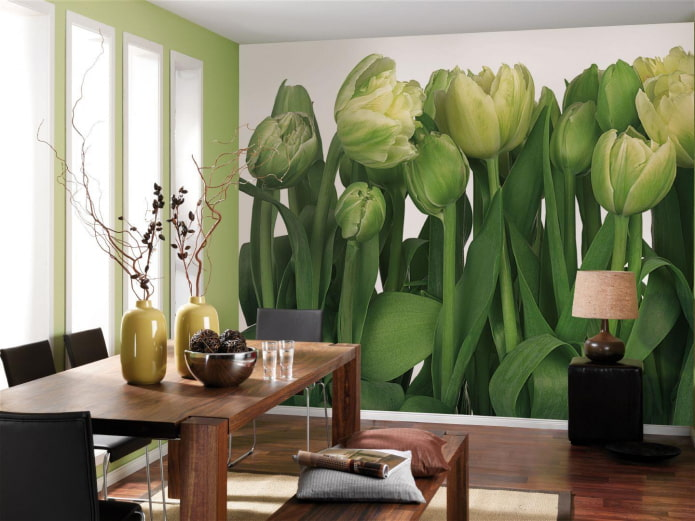 Fond d'écran avec l'image des tulipes
