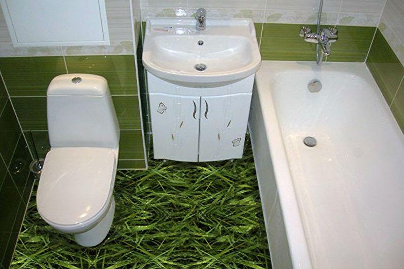 Conception de salle de bain 3 m²  - Finition du sol