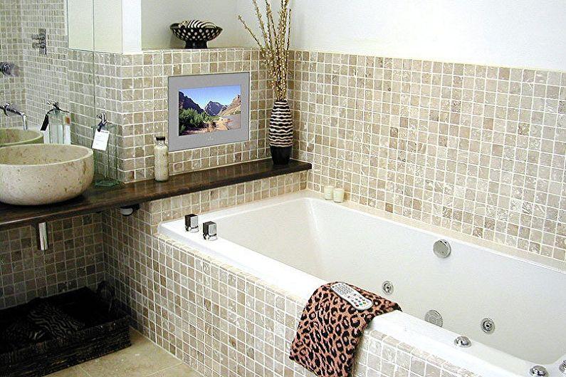 Conception de salle de bain 3 m²  - Décoration murale