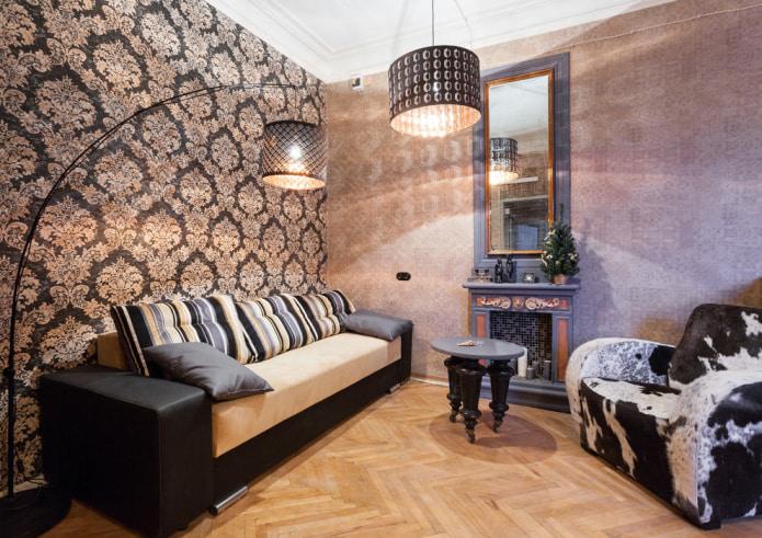 papier peint combinable dans le salon
