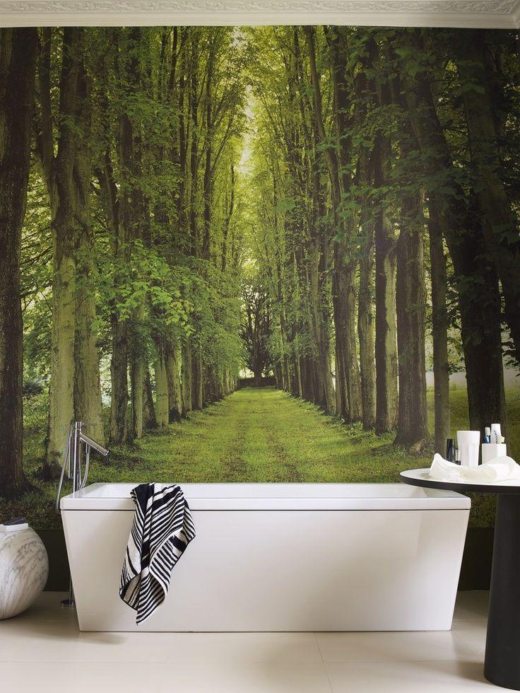 Des photos murales bien choisies compléteront parfaitement l'intérieur de la salle de bain