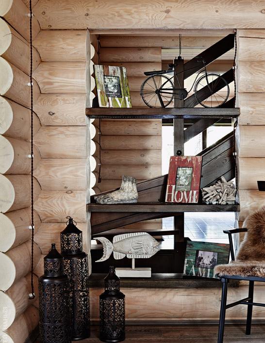 La décoration murale avec un blockhaus vous permettra d'obtenir plus de volume et de texture à l'intérieur