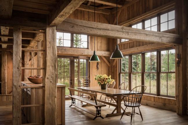 Style rustique en décoration d'intérieur - rustique - préfère également utiliser le bois en décoration murale