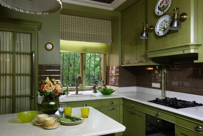 cuisine vert foncé