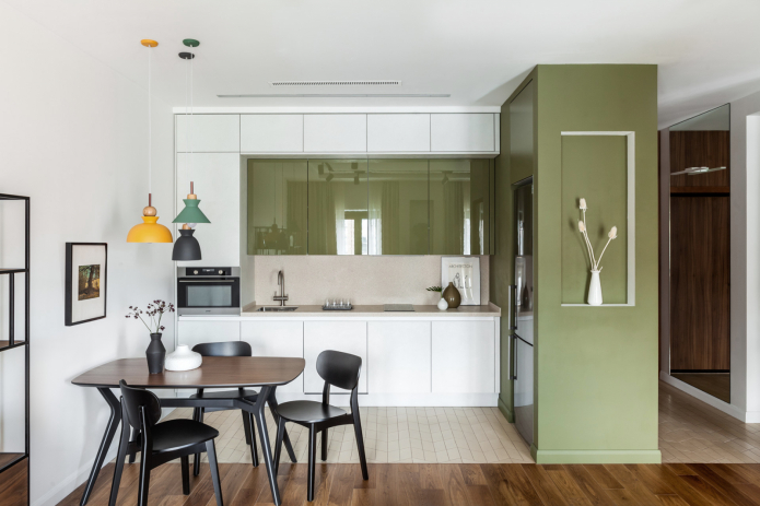cuisine blanche et olive