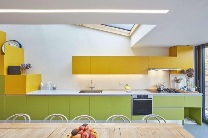 cuisine jaune-vert