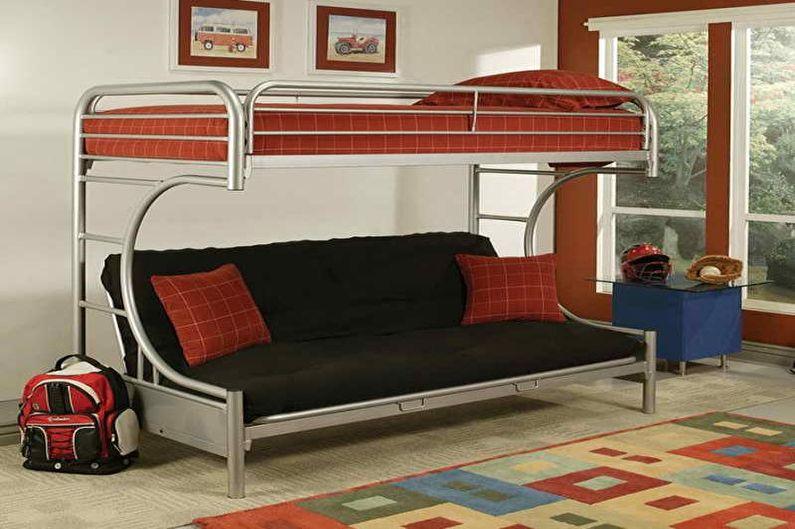 Lit superposé avec canapé - Construction