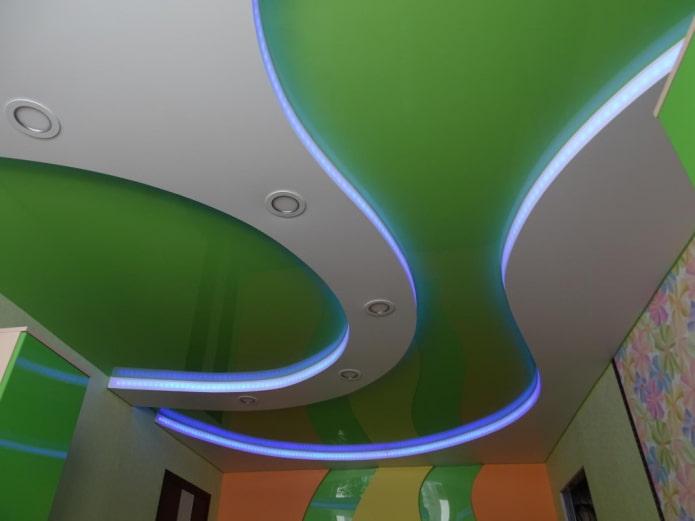 structure de plafond flottant