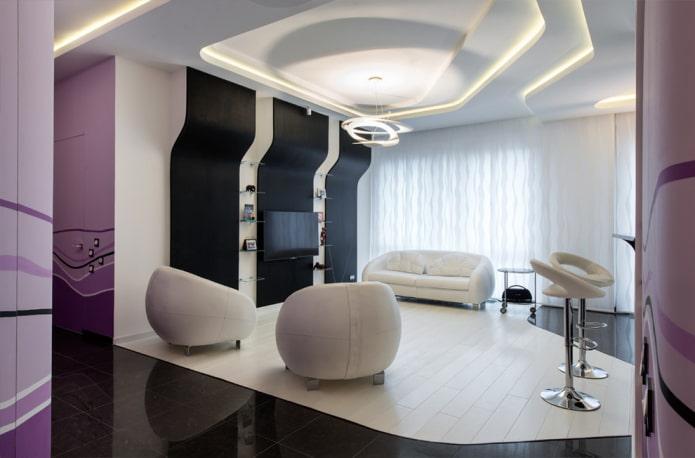 plafond en placoplâtre high-tech