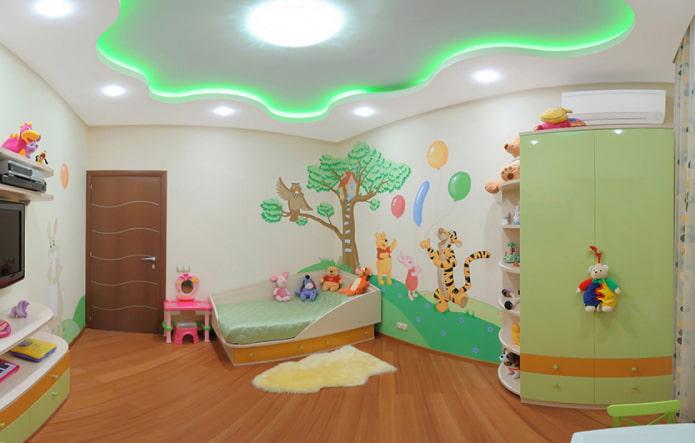structure flottante dans la chambre des enfants