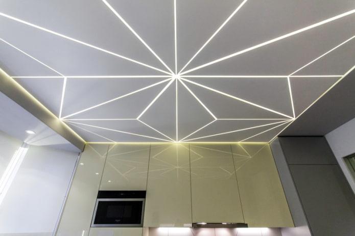 plafond illuminé