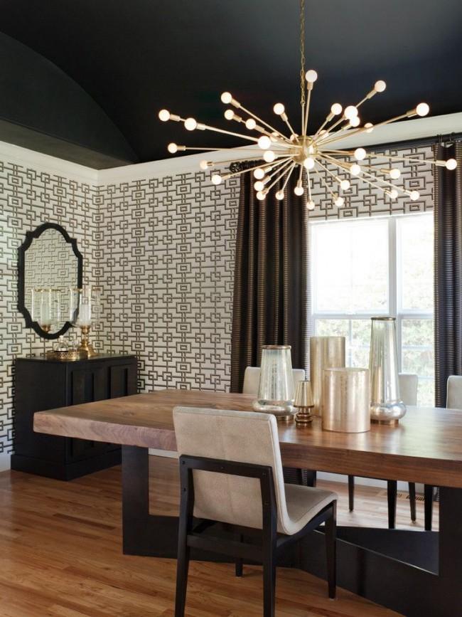 L'une des solutions de conception les plus non standard dans la rénovation d'appartements est l'utilisation de la couleur noire.