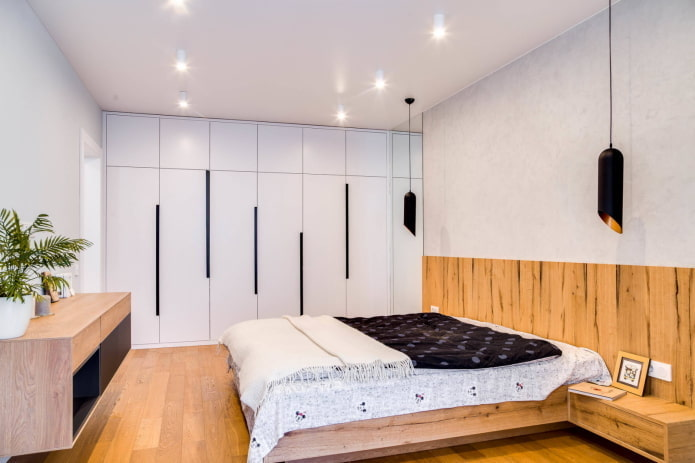 Chambre avec plafonniers