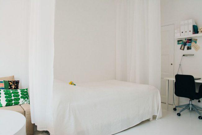 Le zonage en rideau est une bonne option pour un appartement d'une pièce