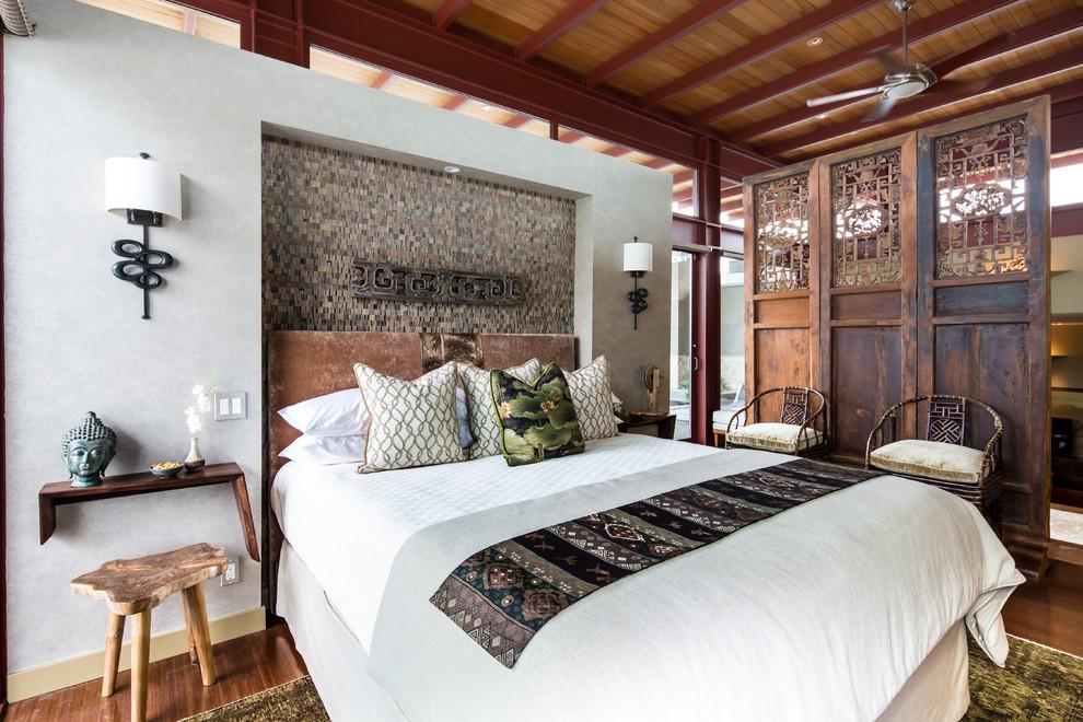 Intérieur harmonieux de la chambre, décoré dans un style oriental