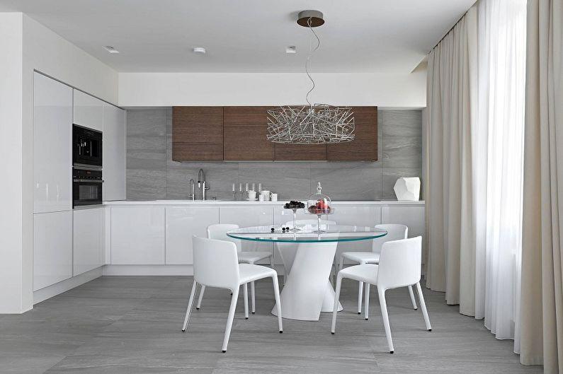 Cuisine 13 m²  dans un style moderne - Design d'intérieur