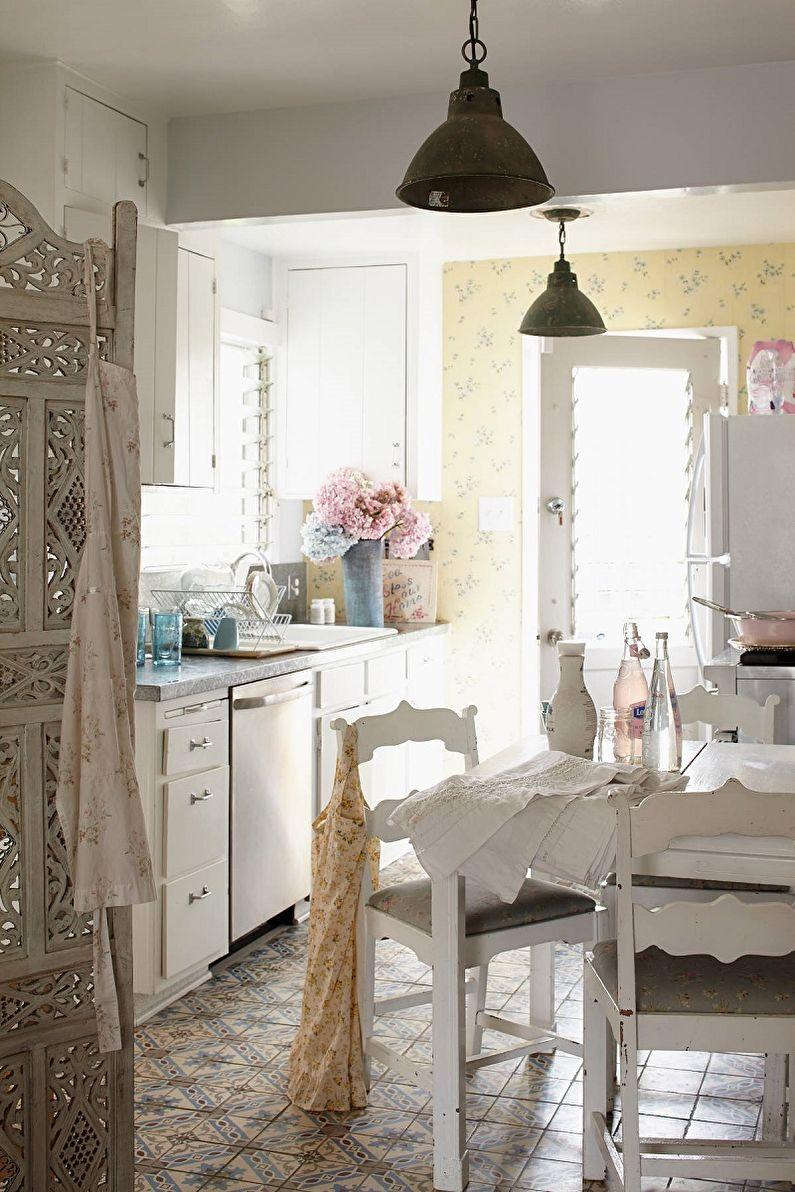 Cuisine 13 m²  Shabby Chic - Design d'intérieur