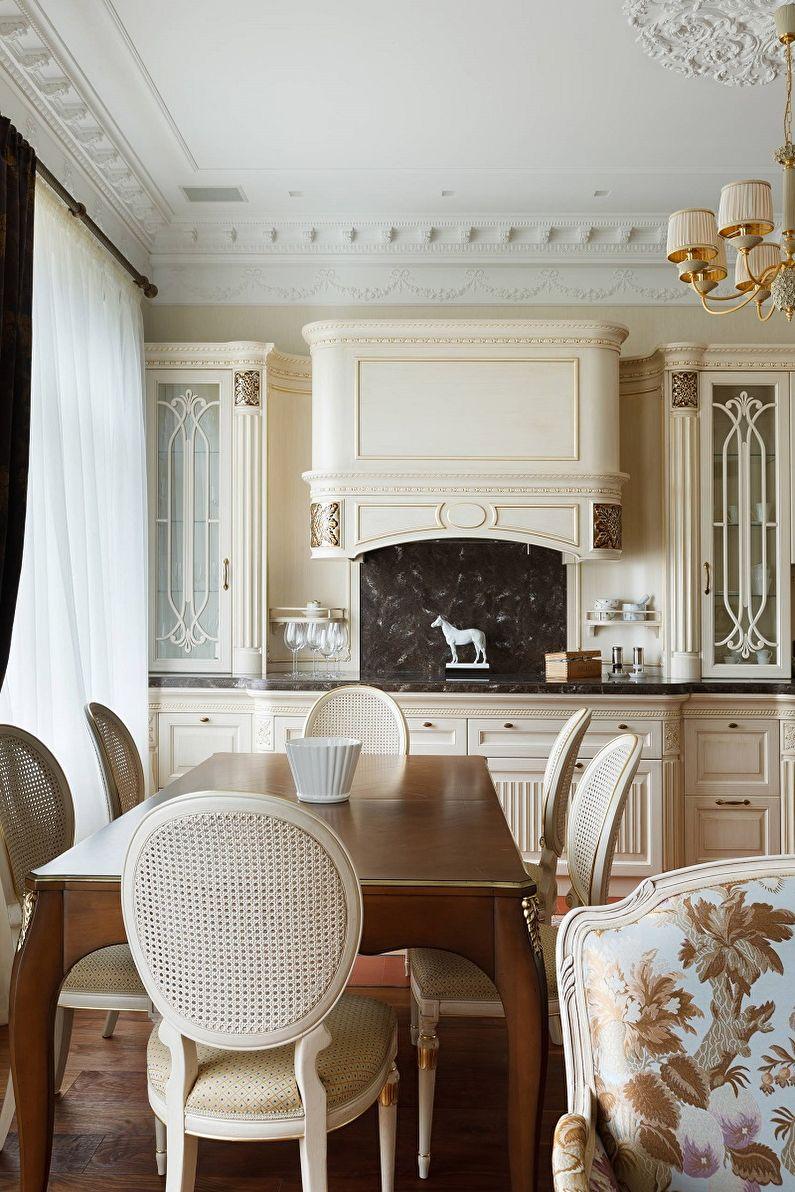 Cuisine 13 m²  dans un style classique - Design d'intérieur