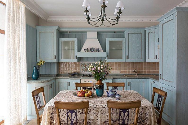 Cuisine 13 m²  style campagnard - Design d'intérieur