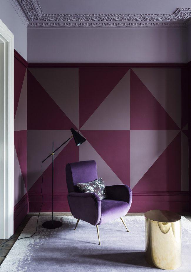 La palette lilas est un excellent moyen de jouer avec la couleur.  N'ayez pas peur d'expérimenter, en combinant, par exemple, des couleurs chaudes sur les murs avec des meubles plus froids et plus saturés.